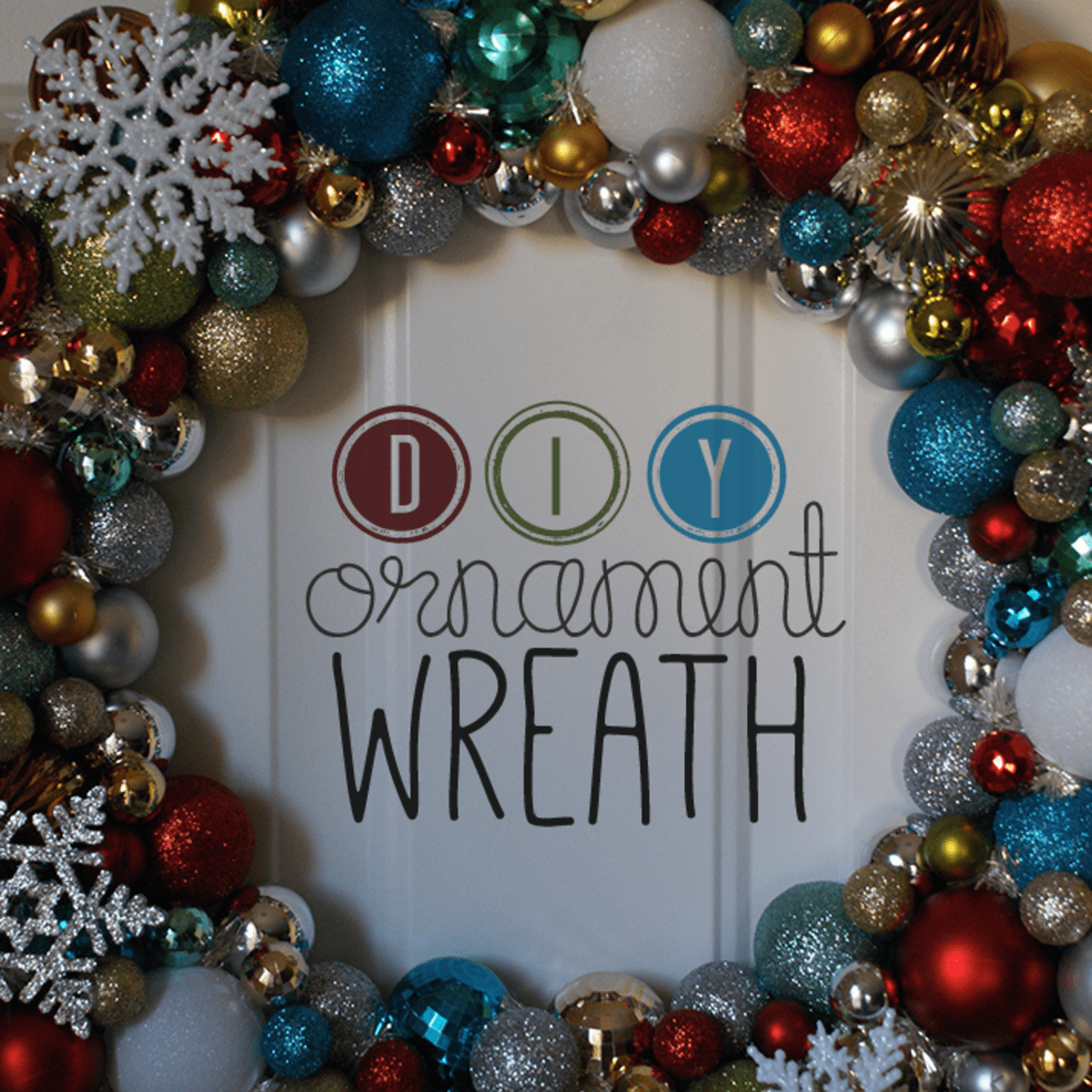 How To Make A Christmas Wreath Out Of Ornaments Holidappy Celebrations
