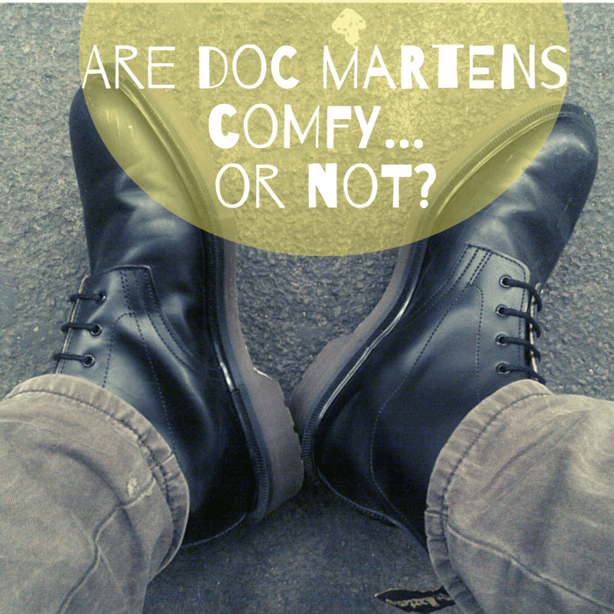 dr martens thick sole shoe