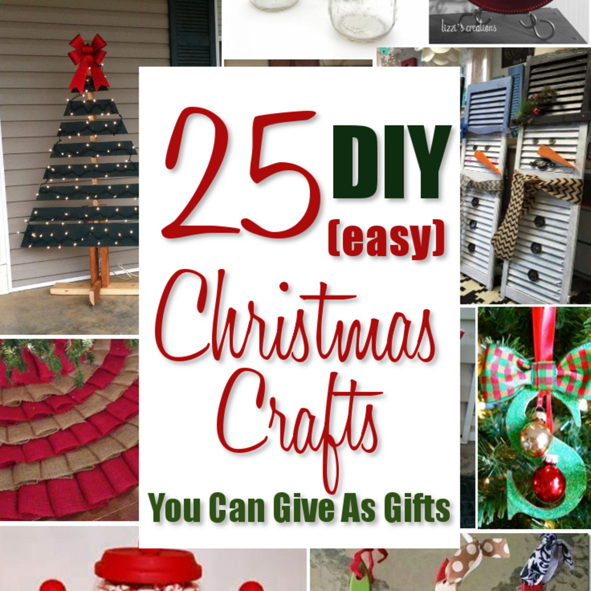 25 Easy Diy Christmas Crafts You Can Give As Gifts Holidappy Celebrations