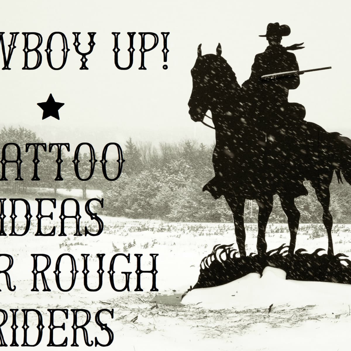 Wild West Tattoos Cowboys Horses Bulls And More Tatring Tattoos Piercings