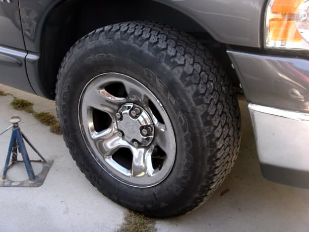 The tire must be removed first