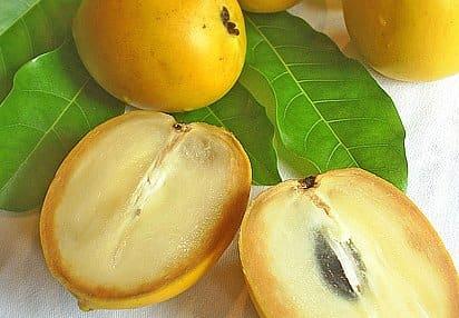 Inside of an abiu fruit
