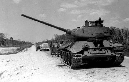 A T3485 in Cuba 1961- This was a common tank in WW2