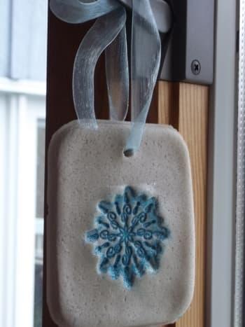 Embossed ornament.