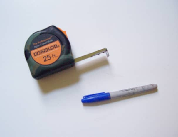 Tape measure and marker