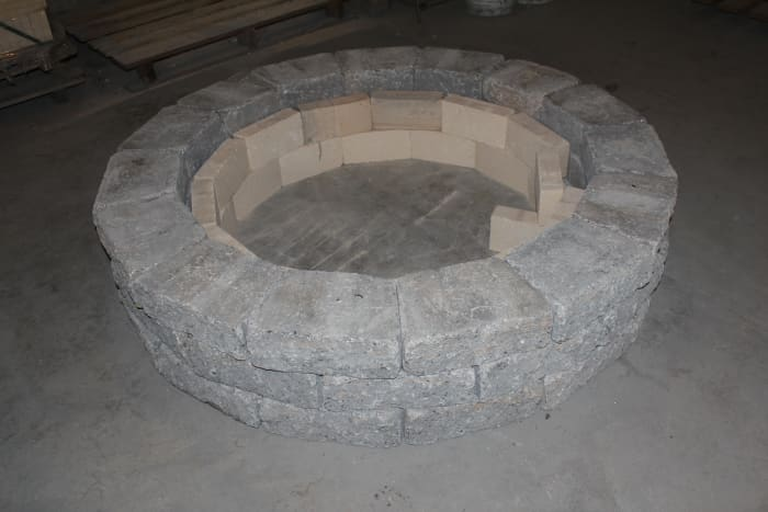 Here is an extra large surround with inside fire bricks (for wood burning models).