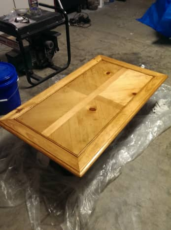 How To Refinish A Table Or Coffee For Beginner Dengarden - How To Stain And Seal Coffee Table