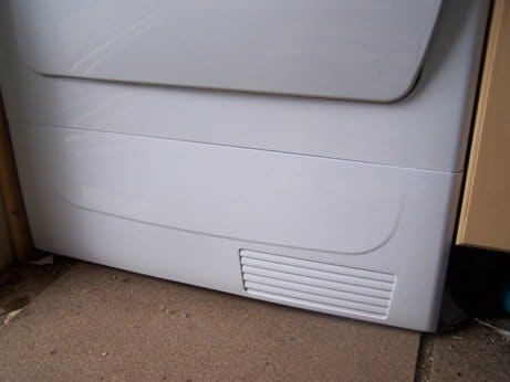 front panel of dryer