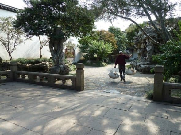 Here you can see the back gardens at the Master of the Nets Garden in Suzhou.