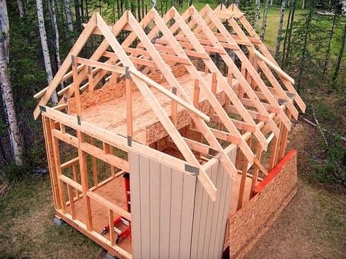 The upper area of the wall siding will be easy to nail into place without the roof sheathing.