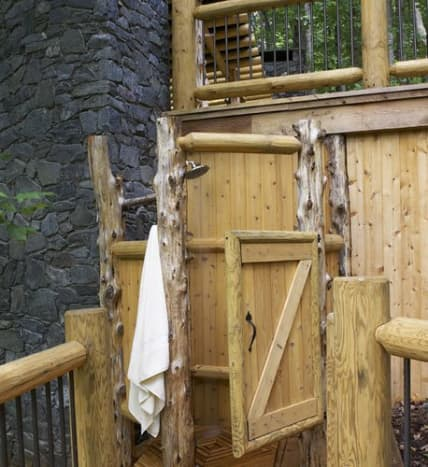 The Wood Shower Enclosure