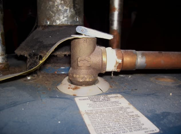 This is an example of a top mounted T&P valve.
