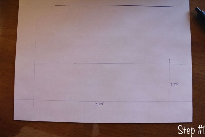 Template drawn on plain paper.