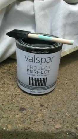 Flat enamel paint with sponge brush.