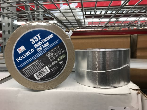 This is your basic foil tape (Polyken 337) and what I use for a typical, exposed duct type system.