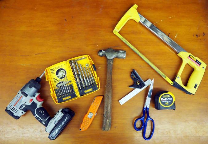 You'll need a variety of common tools for this job