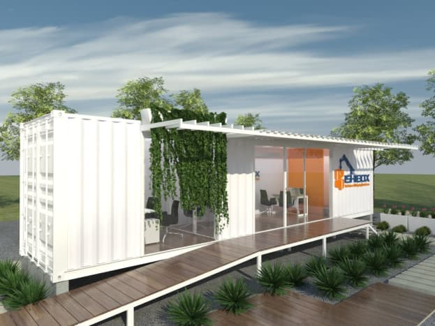40-foot container office, external view.