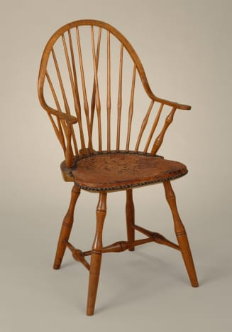 This Windsor armchair is from the 18th century.