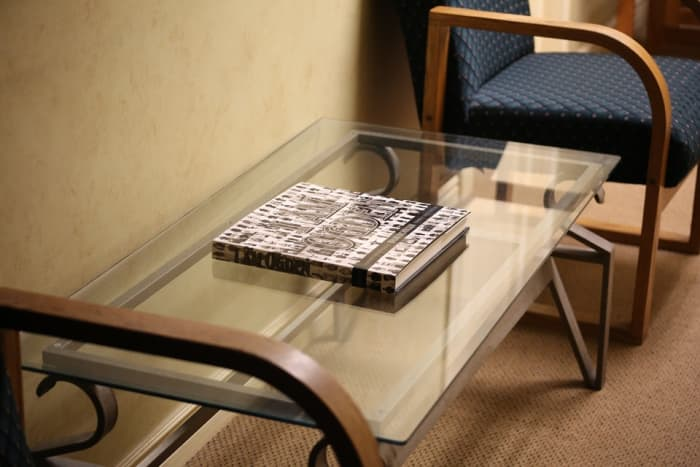 Table and window glass often become scratched.