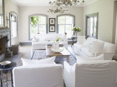 A Nearly All-White Living Room