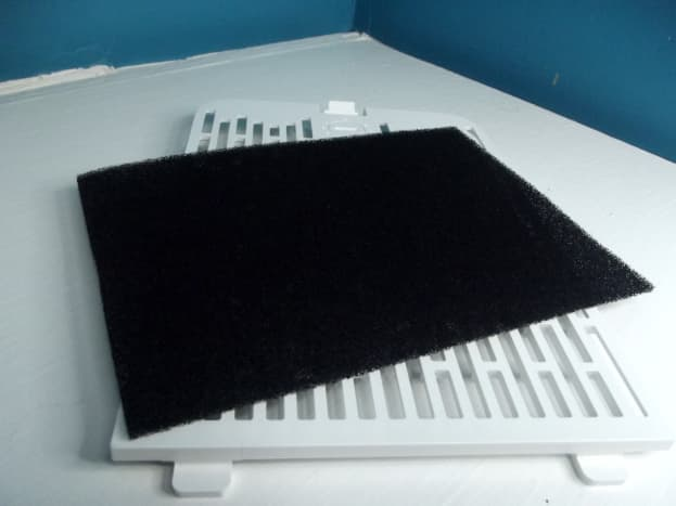 Prefilter and back plate of Levoit LV-H126 personal air purifier.