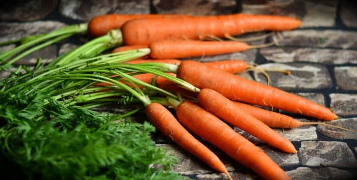The green leaves at the tops of carrots can be used in soups and salads.