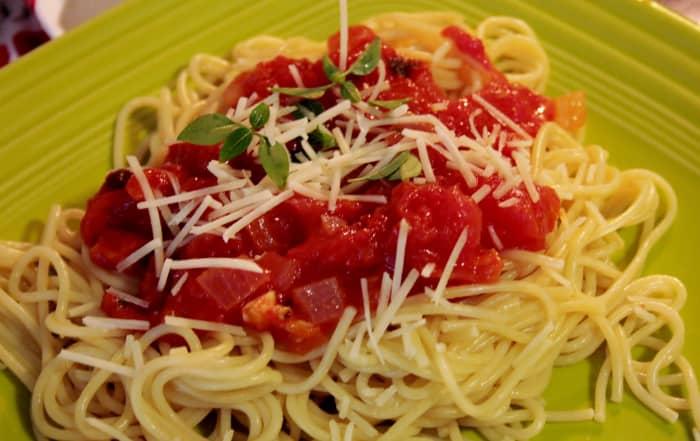 Pasta sauce as fresh as summer.