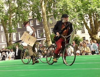 Bicycle Jousting at the Chap Olympiad in London