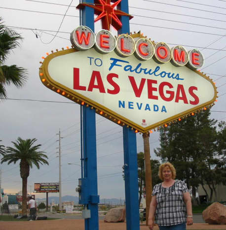 When we first moved to Vegas - yes, I look like I fell off the turnip truck back then! Living here has been eye opening!