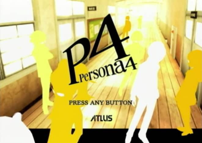 Persona 4 title screen.