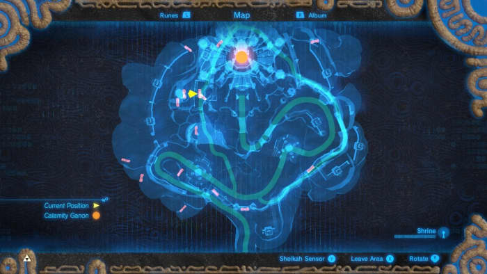 Hyrule Castle on the Map