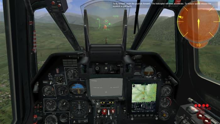 Black Shark cockpit view.