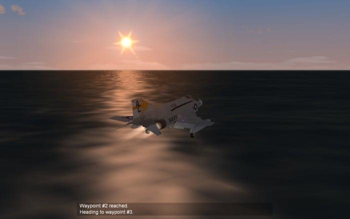 F-4 Phantom Flying at Sea Level