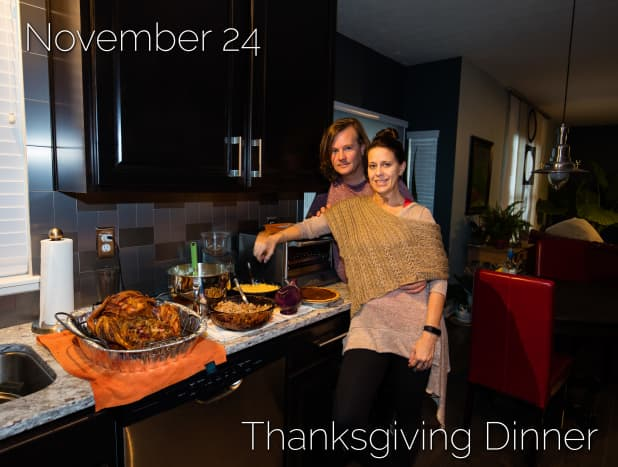 Day #7 - Thanksgiving Dinner Prepared With a Little Help