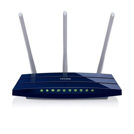 TP-LINK TL-WR1043ND V2 Wireless N300 Gigabit Router, 300Mbps, USB port for Storage, 3 Detachable Antennas, Speed Boost up to 450Mbps, WPS Button