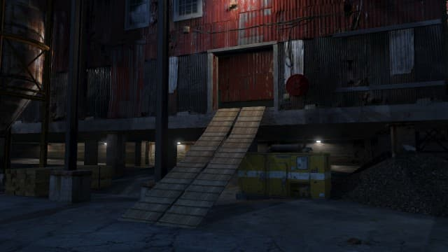 To get into the Sawmill, go up this ramp and head to the right.