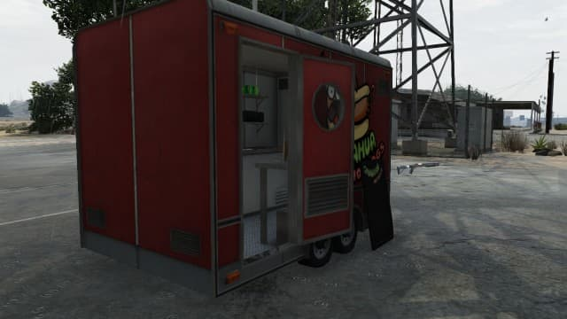 This is the hotdog stand you can either take cover IN or BEHIND.