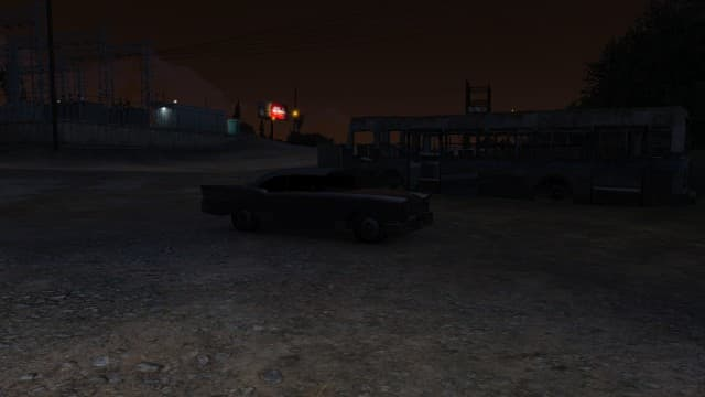 What the Unaffiliated gang car looks like. This is a Tornado. The Peyote comes in red and the Buccaneer in a matte green.