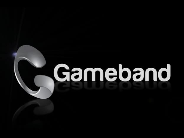 """Gameband displays this logo screen when loading """"Minecraft."""""""