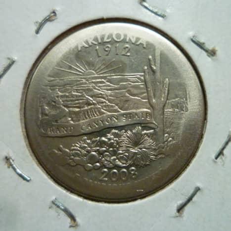 Arizona State Quarter Broad Strike Error. Reverse. I found this coin in circulation.