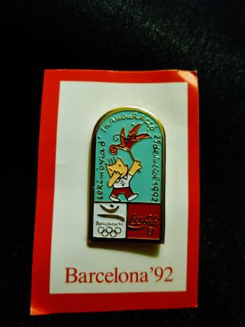 Mascot Cobi used on Coca Cola Olympic sponsor pin