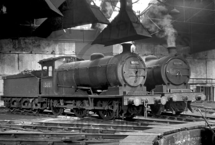 J27 65885 and 65894 rest in Sunderland shed (52G prev. 54A) post-1965 after 65894 was transferred from York (54A) - too many of the class had been withdrawn for scrap, hence the move