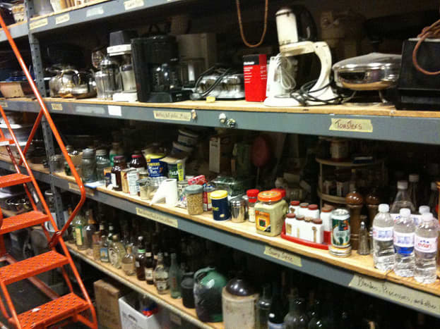 Stage props run the gamut of anything found in a home or office