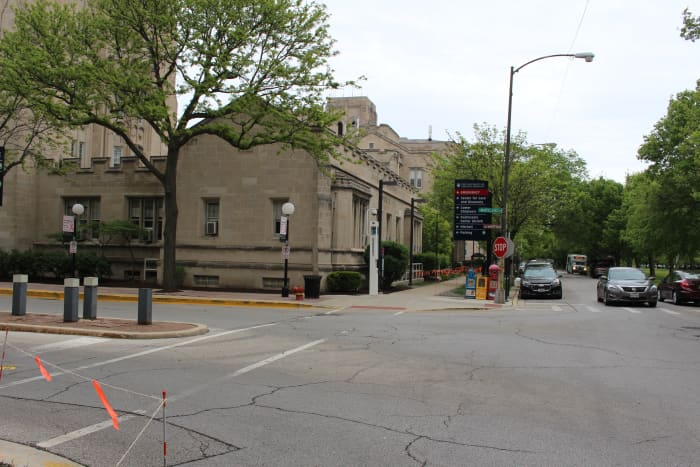 The street corner where Phillip Meagher was gunned down. At the time, February 1930, it was a construction site.