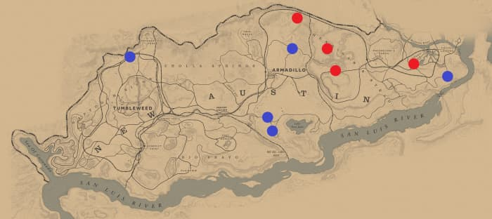 Most of the Ambushes that occur in New Austin take place in the eastern part of the state. Keep in mind that Escorts can also lead to an Ambush.