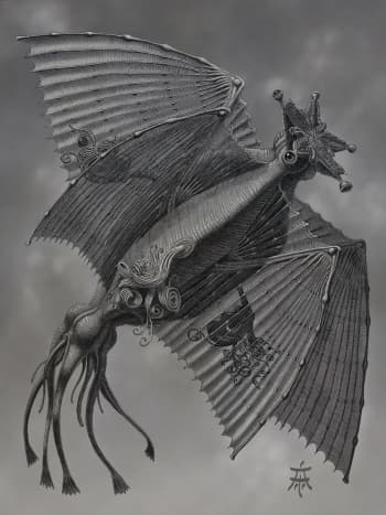 A depiction of one of Lovecraft's  Elder Things