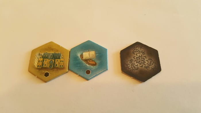 Depot Tiles-The Castles of Burgundy-These are black on the back and have a black dot on the front