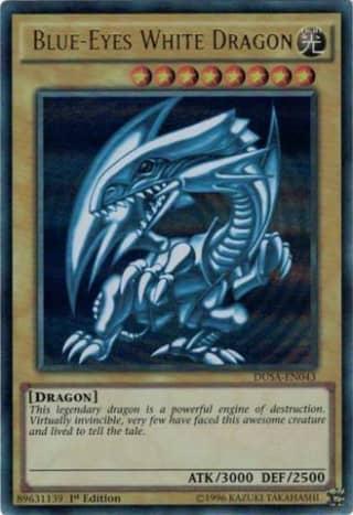 Blue-Eyes White Dragon Original Artwork