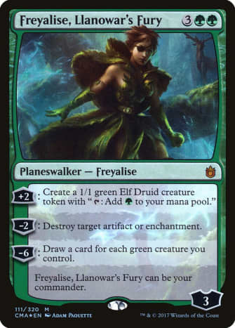 Freyalise, Llanowar's Fury mtg