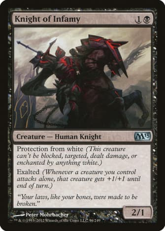 Knight of Infamy mtg